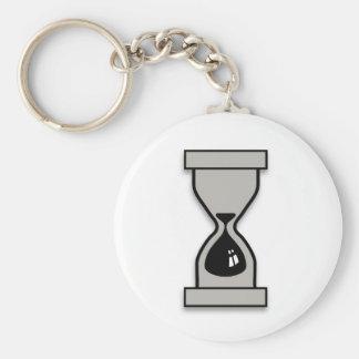 Hourglass Basic Round Button Keychain