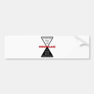Hourglass Bumper Sticker