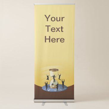 Hourglass Business Retractable Banner