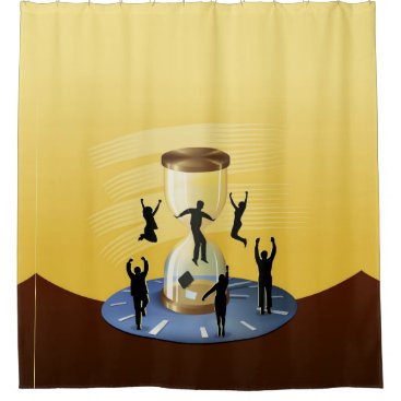 Hourglass Business Shower Curtain
