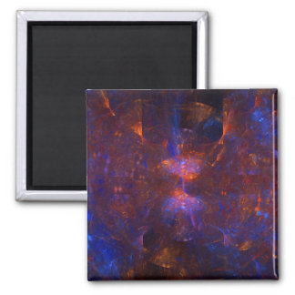 """""""Hourglass Cave"""" Fractal Art 2 Inch Square Magnet"""