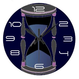 Hourglass Round Clocks
