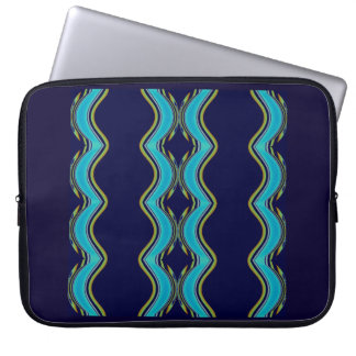 "Hourglass/Diamonds on Blue/Gold Laptop 15"" Sleeve"