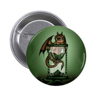 Hourglass Dragon Pinback Buttons