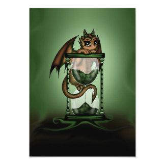 Hourglass Dragon 5x7 Paper Invitation Card