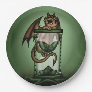 Hourglass Dragon Paper Plate