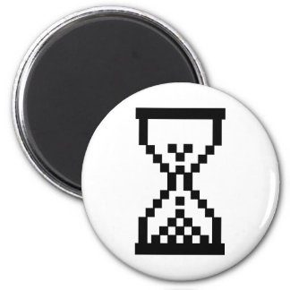 Hourglass icon 2 inch round magnet