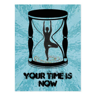 Hourglass - Inspirational Yoga Postcards