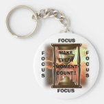 Hourglass, MAKE, EVERY, MOMENT, COUNT!!, FOCUS,... Key Chain