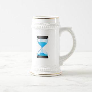Hourglass Sand Timer 18 Oz Beer Stein