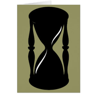 Hourglass - Sands of Time Greeting Card