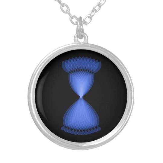 Hourglass Silver Plated Necklace