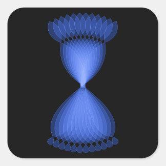 Hourglass Square Stickers