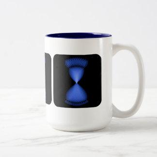 Hourglass Two-Tone Coffee Mug