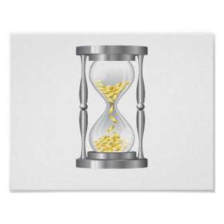 Hourglass With Money Poster