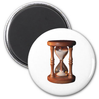 Hourly glass of hourglass egg timer hourglass 2 inch round magnet