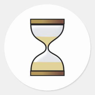 Hourly glass of hourglass egg timer hourglass classic round sticker