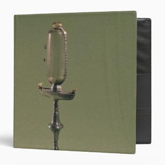 Hourly lamp, 1677 3 ring binder