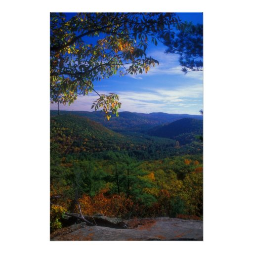 Housatonic Valley in Autumn from Pine Knob Poster
