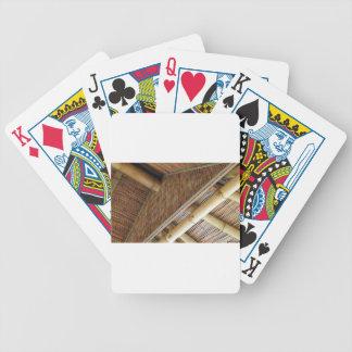 House1.jpg de bambú baraja de cartas