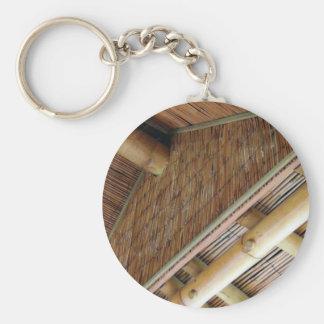 House1.jpg de bambú llavero redondo tipo pin