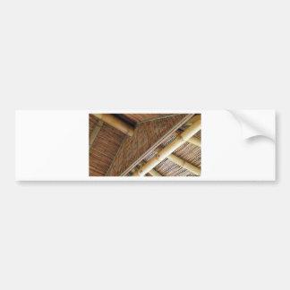 House1.jpg de bambú pegatina para auto