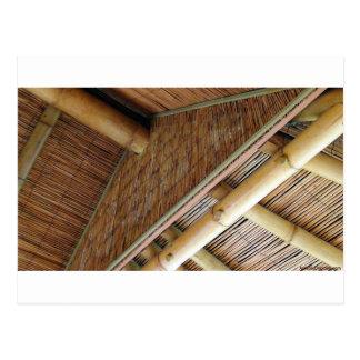 House1.jpg de bambú tarjeta postal