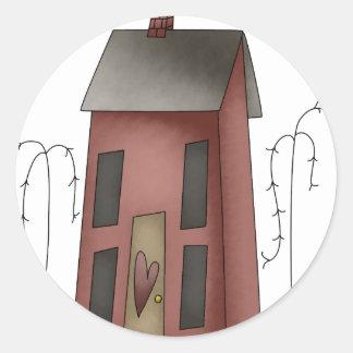 house1 pegatina redonda
