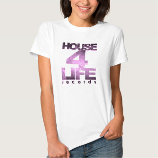 House 4 Life Records Ladies Fitted Babydoll Tee-Ho Tee Shirt