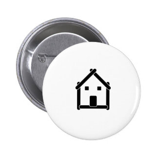 House abstract real estate countryside pinback button