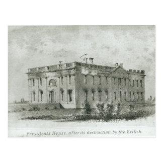 House After del presidente su destrucción Postal