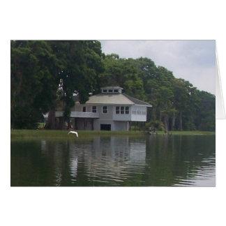 House Along the River Card (blank inside)
