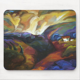 House among the hills_ mouse pads