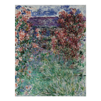 House among the Roses by Claude Monet Poster