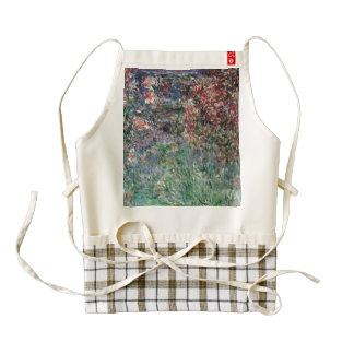 House among the Roses by Claude Monet Zazzle HEART Apron