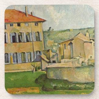 House and Farm at Jas de Bouffan by Paul Cezanne Beverage Coaster