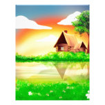 House and river painting letterhead