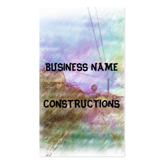 House and road business card