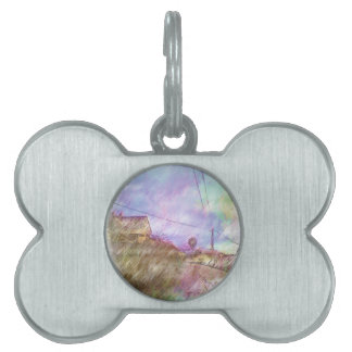 House and road pet tag