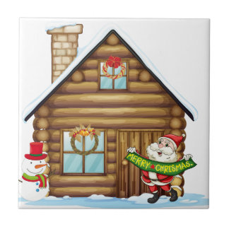 house and santa claus ceramic tile