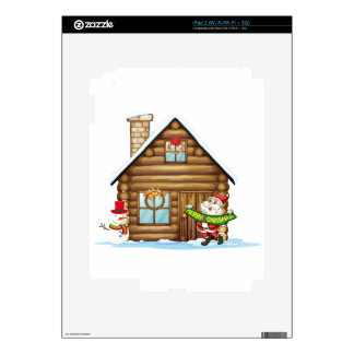 house and santa claus decal for iPad 2