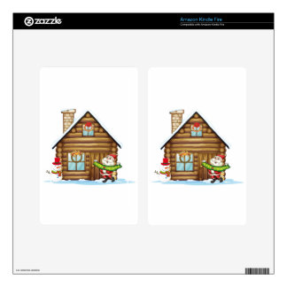 house and santa claus kindle fire decal