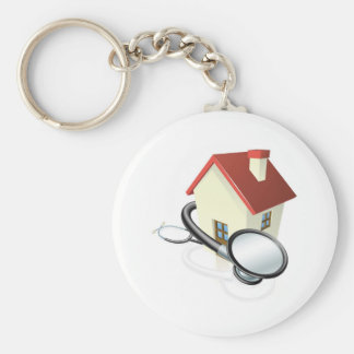 House and stethoscope concept key chains