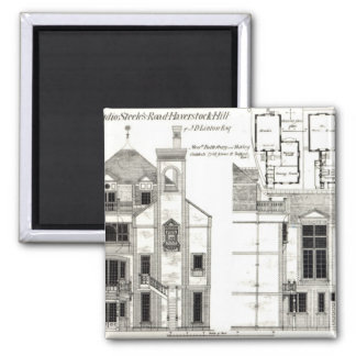 House and Studio, Steele's Road, Haverstock 2 Inch Square Magnet