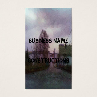 House and the sea business card