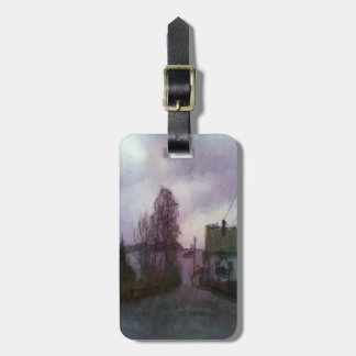 House and the sea luggage tag