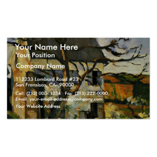 House And Tree By Paul Cézanne (Best Quality) Business Card Templates