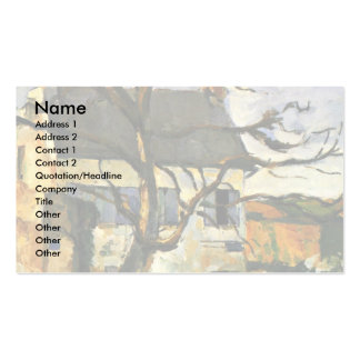 House And Tree By Paul Cézanne (Best Quality) Business Cards