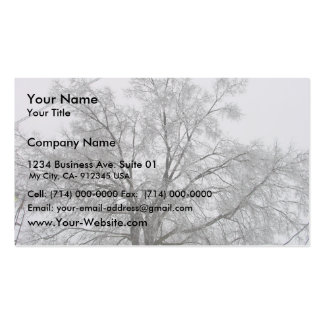 House And Tree Covered With Snow, Business Card
