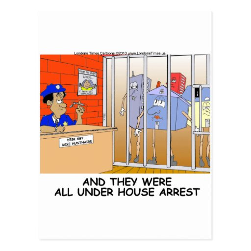 House Arrest Funny Police Mugs Tees Cards Gift Etc Postcard